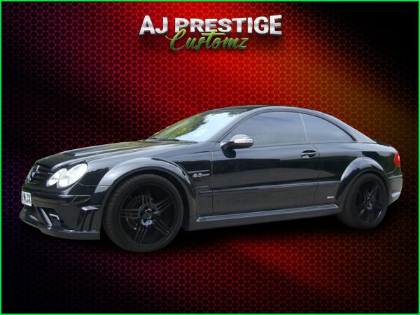 Mercedes clk to black series wide body kit aj prestige for Mercedes benz clk black series body kit